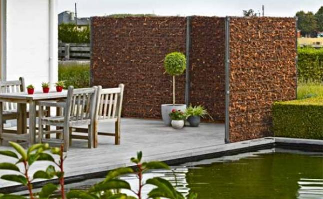 Idee per giardino, pannelli Zenturo per contenimento corteccia by ...