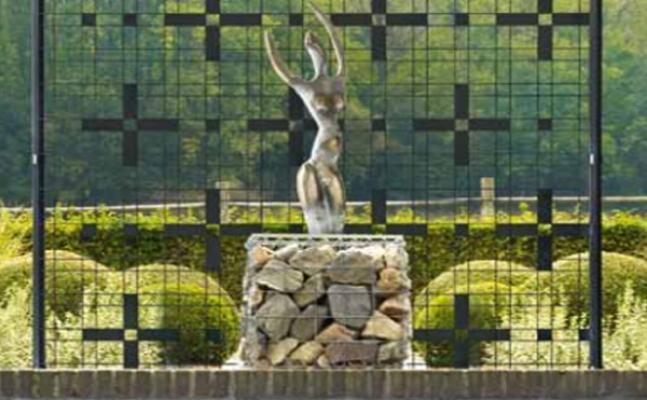 Idee per giardino, pannelli Zenturo Pixels by Betafence