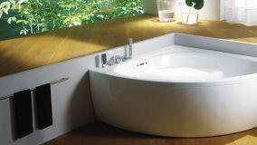 Classe e relax: modelli di vasche da bagno ad angolo