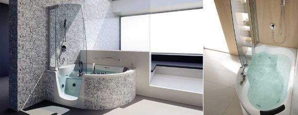vasca da bagno ad angolo modello 383 di teuco