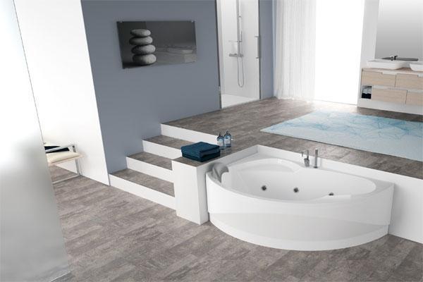 Vasca Da Bagno Uma Jacuzzi : Vasche da bagno angolari per il relax domestico