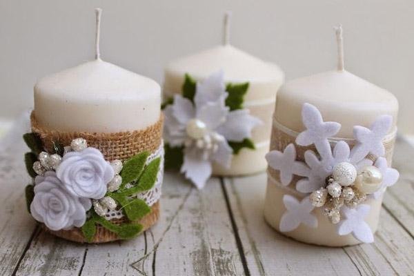 Capodanno in casa decorazioni e ricette - Decorazioni natalizie con candele ...