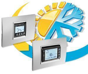 Sistema impostazione e controllo temperature in casa stanza per stanza di Gewiss
