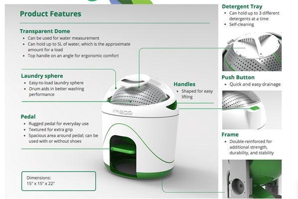 Istruzione utilizzo Drumi lavatrice a pedale green