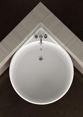 Vasca da bagno circolare a muro