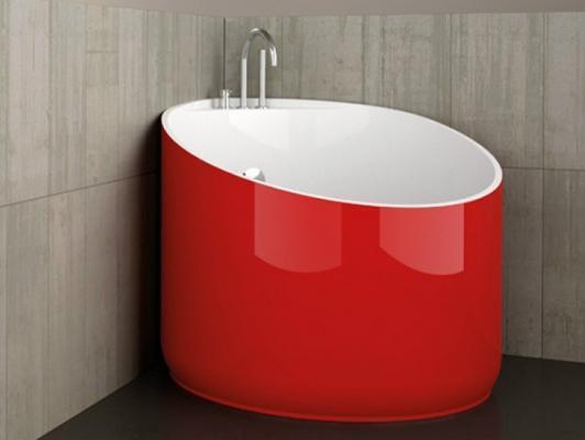 Vasca da bagno circolare rosso ferrari