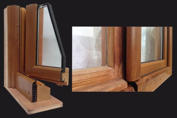 Finestre in pvc e legno for Infissi pvc legno
