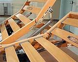 Struttura con doghe in legno regolabili