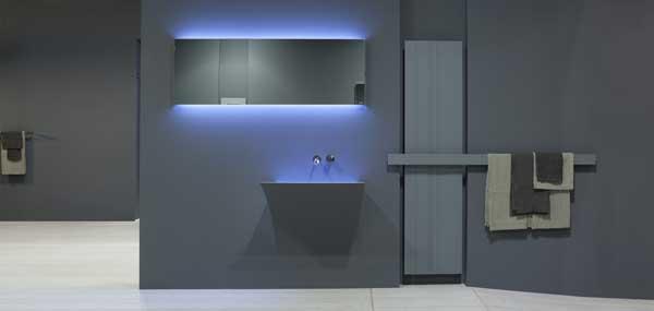 immagine di un radiatore antonio lupi inserito in un bagno