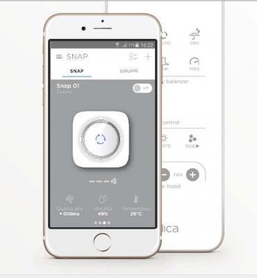 L'app per il comando da remoto di Snap by Elica.