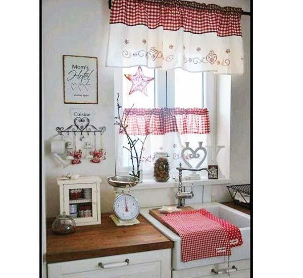 Tende country per arredare - Tende shabby cucina ...