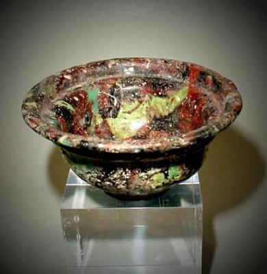 Autentica coppa romana in vetro ( Mutina Ars Antiqua)