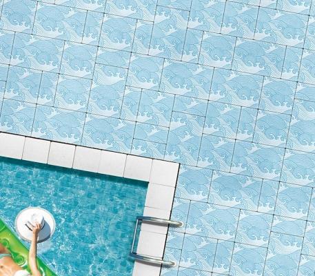 Pavimento personalizzato piscina di Ferrari BK
