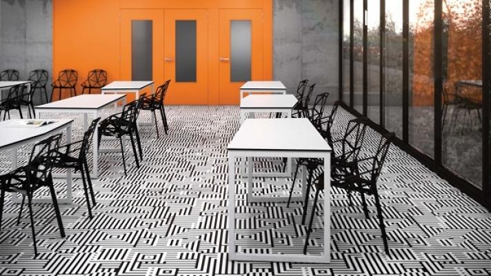 Pavimento personalizzato arte labirinto di  Forbo - Flooring Systems