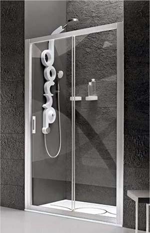 Box doccia con profili in alluminio e Cristallo temperato, di Stilbagno