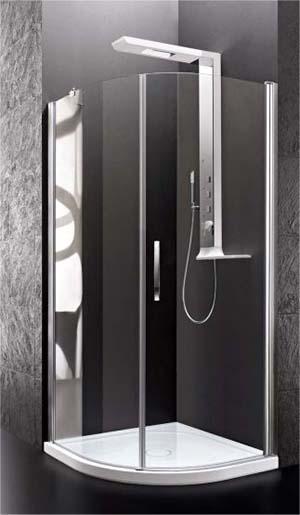 Box doccia angolare curvo, di Stilbagno