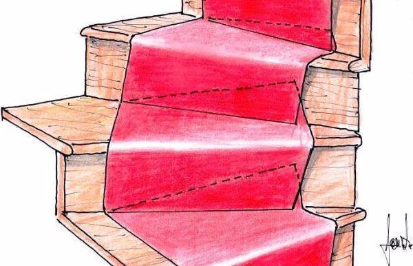 Disegno di moquette posata su scala
