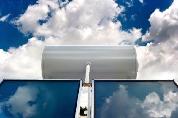 Collettore solare con boiler