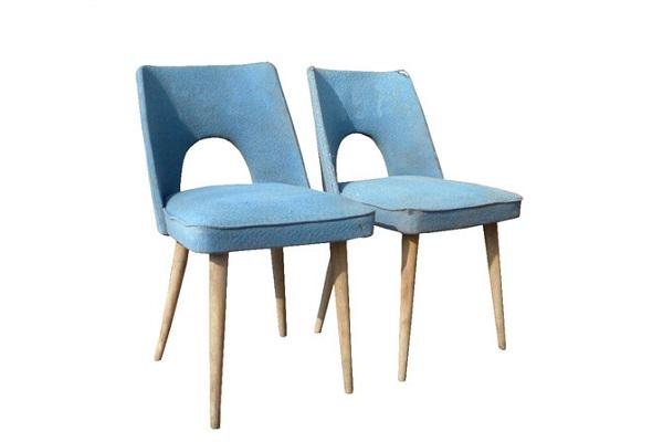 Sedie Vintage Club Chair Anni 50 di Italian Vintage Sofa