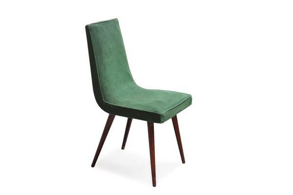 Sedie verdi Vintage Anni '50 di Italian Vintage Sofa