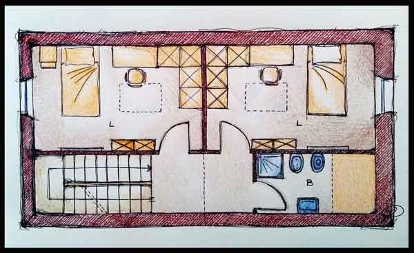 Progetto esemplificativo di camerette da mansarda