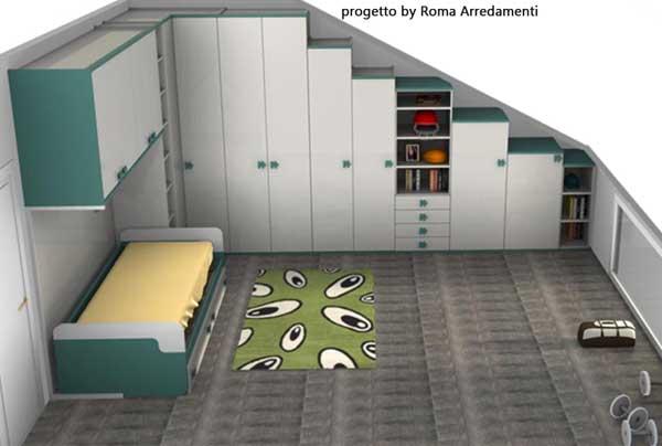 Camerette da mansarda - Foto di camerette per bambini ...