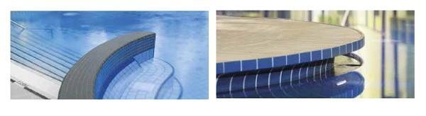 Particolare piastrella in klinker rivestimenti per piscine di Agrob Buchtal
