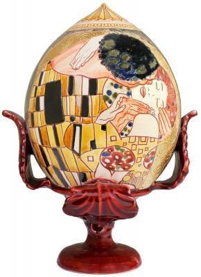 Pumo pugliese con disegno a mano del Bacio di Klimt. Su Amazon
