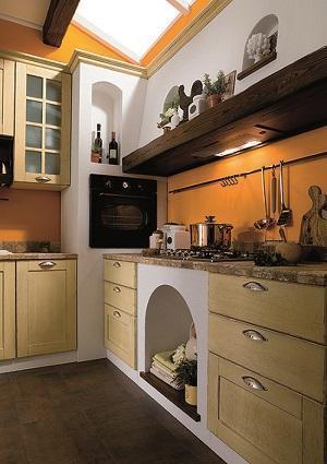Cucina in muratura - Cappa cucina in muratura ...