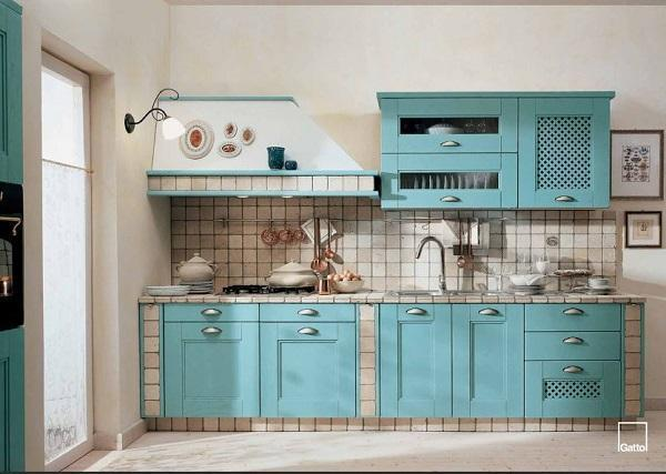 Cucina in muratura - Colori per mobili cucina ...