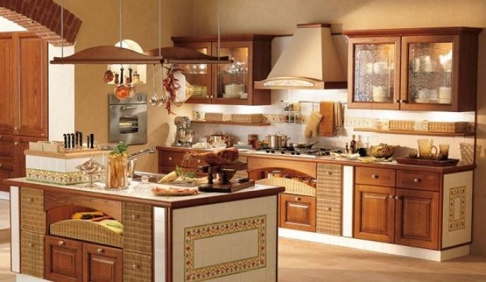 Cucina in muratura - Cappe da cucina classiche ...