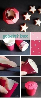Dal bicchiere alla scatoletta - tutorial di Mamabee