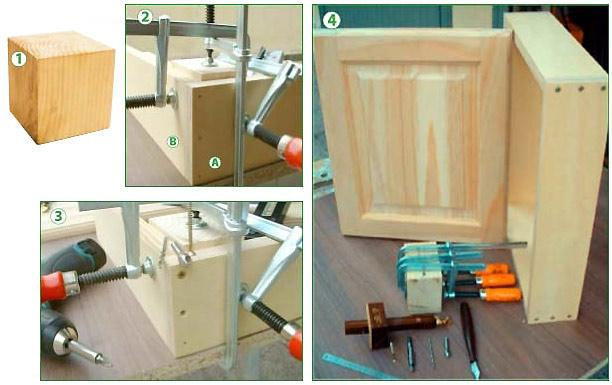 Montaggio ante prefinite in legno