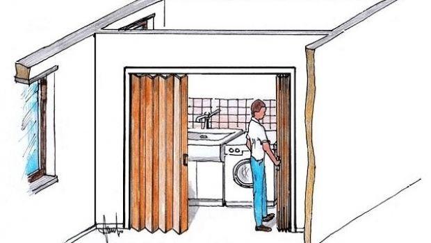 porte a soffietto moderne : Porta a soffietto per piccoli spazi: montaggio fai da te