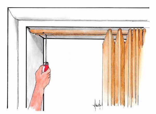 Fissaggio binario porta a soffietto per piccoli spazi