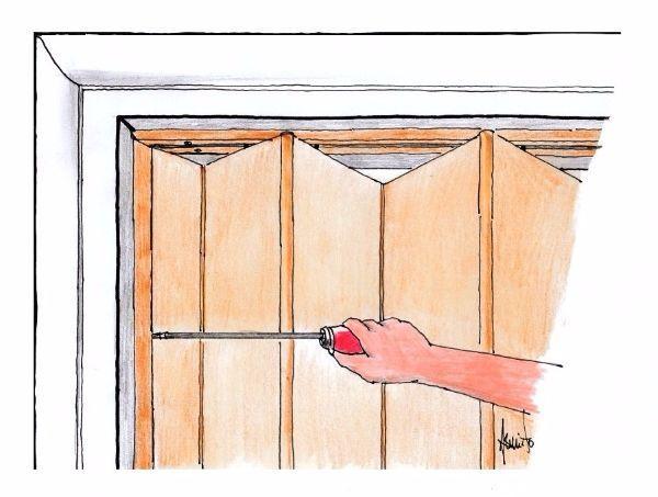 Porta a soffietto per piccoli spazi montaggio fai da te - Montare una porta a soffietto ...