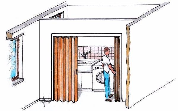 Porta a soffietto per piccoli spazi montaggio fai da te - Porta scorrevole esterno muro fai da te ...