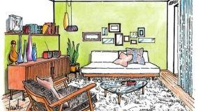Salotto stile vintage: progetto d'arredo