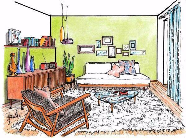 Un arredo in stile vintage per il salotto