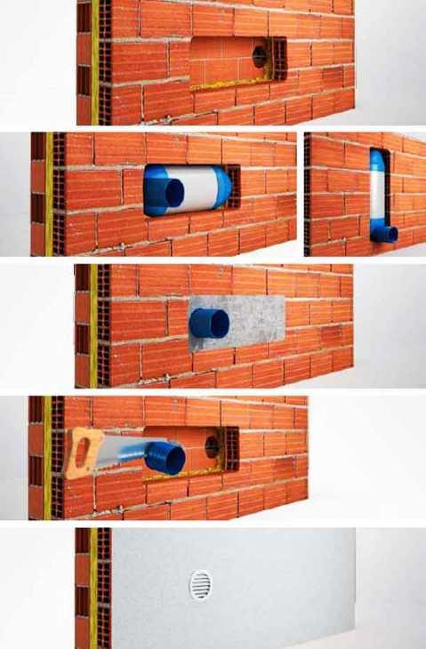 Applicazione silenziatore Termolan per fori di ventilazione