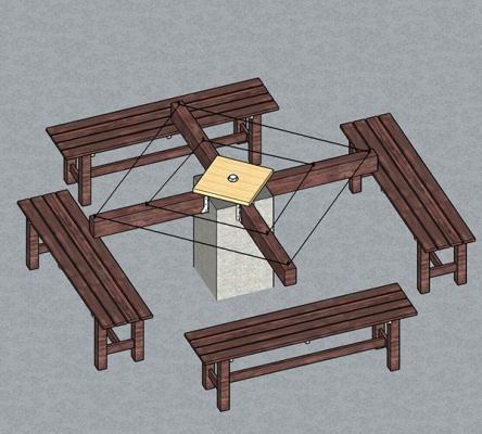 Trasformazione del basamento tavolo in stendino