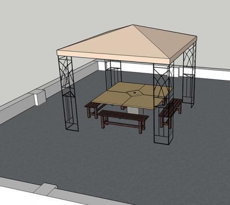 Visione ultimata realizzazione tavolo