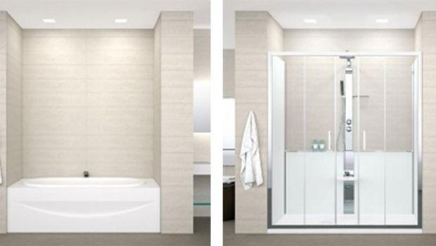 Trasformazione di una vasca da bagno in doccia