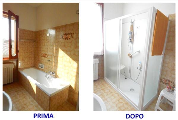 Sostituire vasca con doccia per anziani e diversamente abili