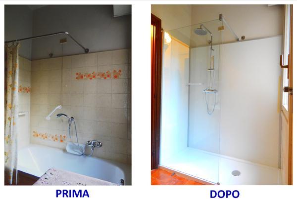 Realizzazioni Cambio Vasca, vasca con doccia