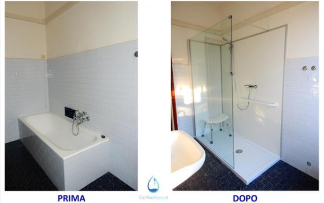 sostituire vasca con doccia