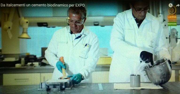 Cemento biodinamico laboratorio Italcementi