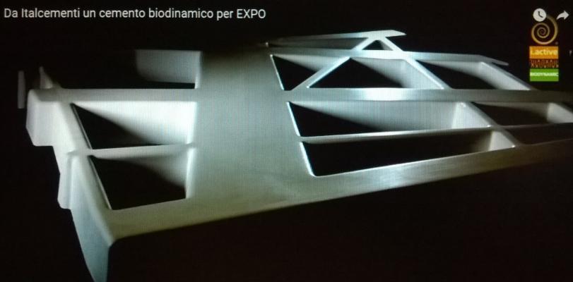 Cemento biodinamico pannello Italcementi