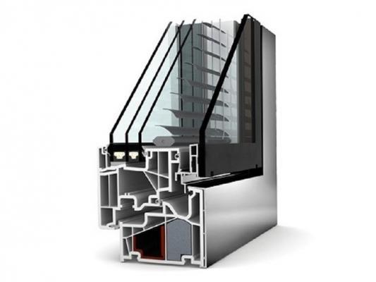 Serramento PVC accoppiato con alluminio di INTERNORM Italia