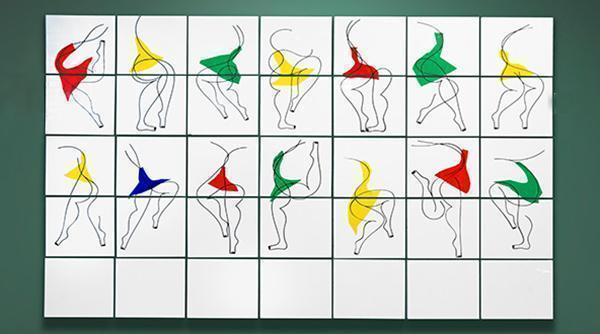 Composizione dell'artista Jonathan calugi, creata per Artelinea al Cersaie.